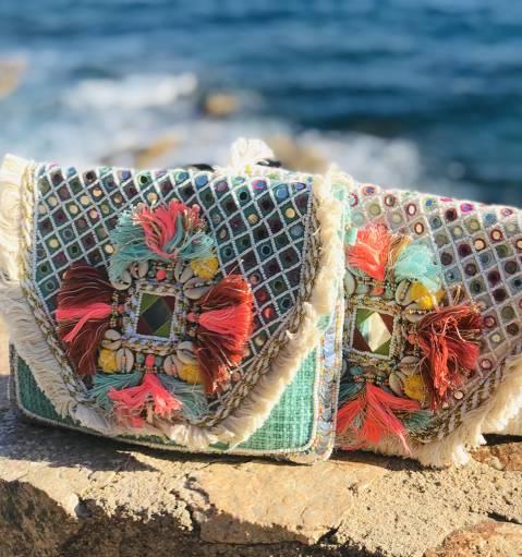 Clutch Boho Espejos Multicolor